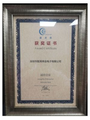 Blue Dot Award Certificate